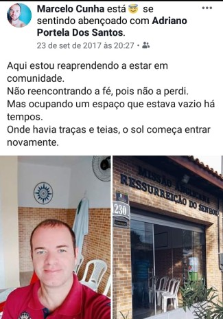 Postagem de Marcelo